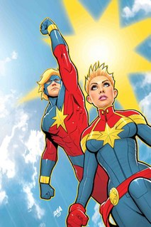 Captain Marvel (Marvel Comics) Name of several superheroes appearing in Marvel Comics publications and related media