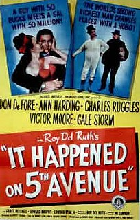 <i>It Happened on 5th Avenue</i> 1947 film by Roy Del Ruth