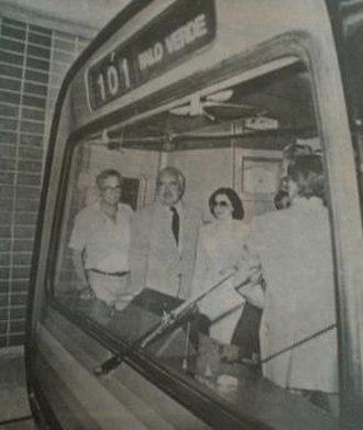Caracas Metro - Inauguration of Caracas Metro by president Luis Herrera Campins, January 2, 1983.
