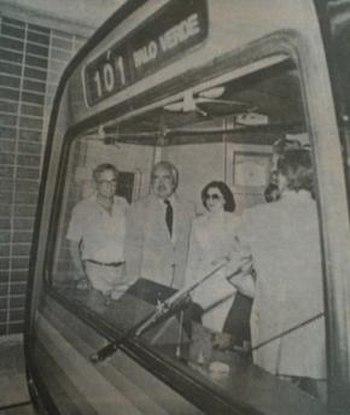 Inauguration of Caracas Metro
