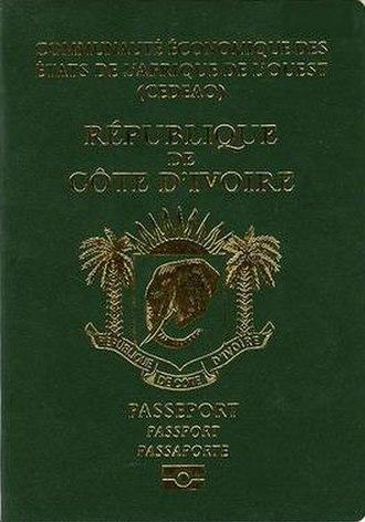 Ivorian passport - Ivorian passport front cover