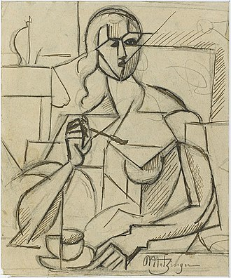 Musée National d'Art Moderne - Image: Jean Metzinger, 1911, Etude pour Le Goûter, graphite and ink on paper, 19 x 15 cm, Musée National d'Art Moderne, Centre Georges Pompidou, Paris
