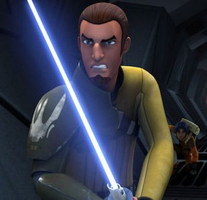 Kanan Jarrus - Kanan with his lightsaber.