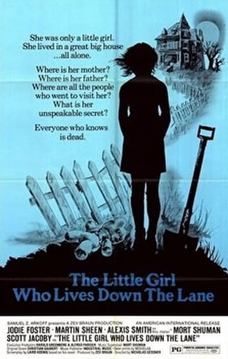 The Little Girl Who Lives Down the Lane - Promotional poster for U.S. release