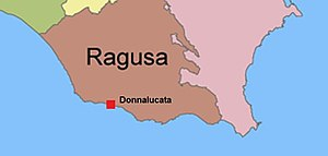 Donnalucata - Image: Location of Donnalucata