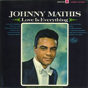 Love Is Everything (Johnny Mathis album) - Image: Love Is Everything (Johnny Mathis album cover art)