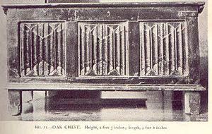 Linenfold - An English oak chest with complex linenfold panels.