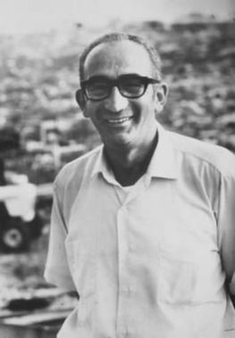 Max Yasgur - Max Yasgur at the Woodstock Festival in 1969 held on part of his dairy farm in Bethel, New York