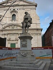 Statue of Metastasio in Rome, Piazza della Chiesa Nuova (Source: Wikimedia)