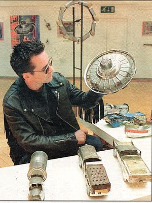 Mike Badger - Mike Badger at Lost and Found Exhibition at the Liverpool Art School in 1997.