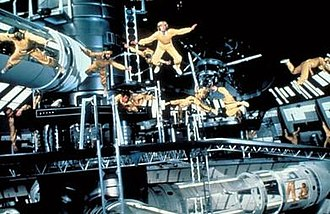 Moonraker (film) - The climax of the film with the laser battle on Drax's space station. Moonraker holds the world record for the largest number of zero gravity wires in one scene.