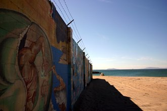 Silver Strand Beach - The Mural Wall at The Ship parking lot, Silverstrand Beach.