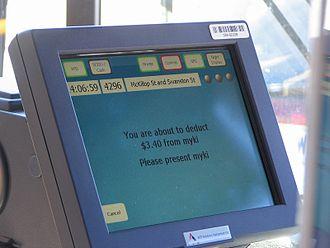 Myki - Myki Bus – Driver's Console