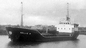 Attacks on shipping in Lough Foyle (1981–82) - The coaster Nellie M in 1974