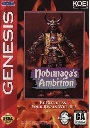 Nobunaga's Ambition - Packaging for the Genesis version