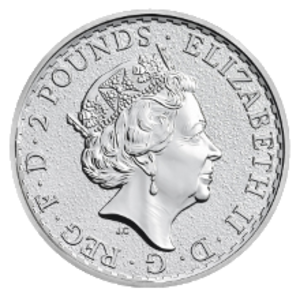Britannia (coin) - Image: Obverse of the 2016 Britannia bullion coin