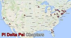 Pi Delta Psi Wikipedia - Us map pi
