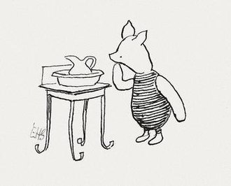 Piglet (Winnie-the-Pooh) - Piglet illustrated by E.H. Shepard.