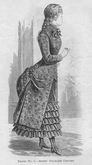 Polonaise (clothing) - 'Misses' Polonaise Costume,' September 1883.