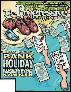 <i>The Progressive</i> American political magazine and website.