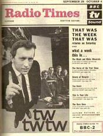 That Was the Week That Was - 1963 Radio Times cover promotes the return of the programme for a second series.
