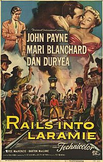 <i>Rails Into Laramie</i> 1954 film by Jesse Hibbs