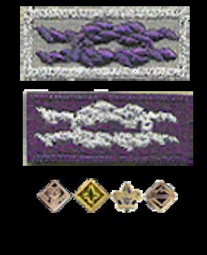 Religious emblems programs (Boy Scouts of America) - Knot for Adult Religious Emblem Knot for Youth Religious Emblem Devices for Youth Religious Emblem