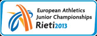 2013 European Athletics Junior Championships - Image: Rieti 2013logo