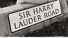 Road sign - Sir Harry Lauder Road.jpg