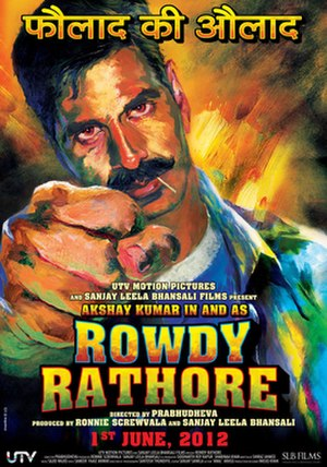 Rowdy Rathore - Theatrical release poster