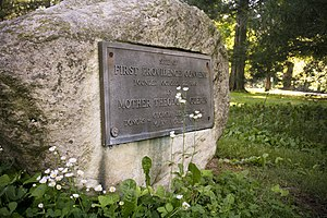 Sisters of Providence of Saint Mary-of-the-Woods - Marker on location of first Sisters of Providence motherhouse