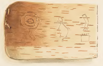 Wiigwaasabak - Example of a Birch bark scroll piece