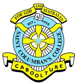 St Columban's College, Caboolture - St. Columban's College crest. Source: www.stcolumbanscollege.qld.edu.au (St. Columban's College website)