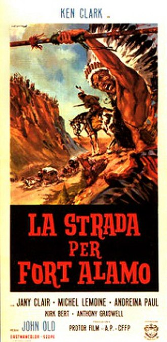 The Road to Fort Alamo - Italian film poster
