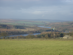 River Washburn - The Washburn valley with Swinsty Reservoir in the foreground and Fewston Reservoir beyond