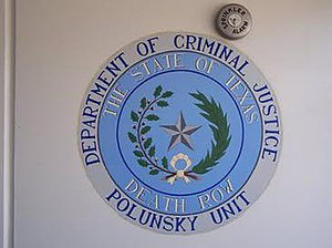 Allan B. Polunsky Unit - The State of Texas Death Row seal, taken at the Polunsky Unit