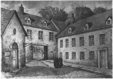 The Congregation of Notre Dame convent from rue Saint-Jean-Baptiste, 1684-1768.