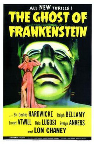 The Ghost of Frankenstein - Theatrical release poster
