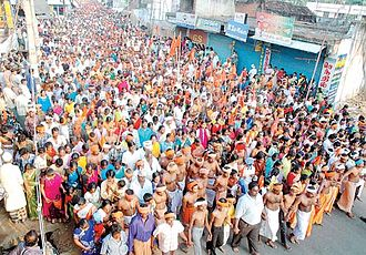 Ayya Vaikunda Avataram - A part of worshippers in the Procession