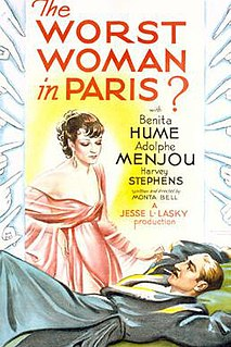 <i>The Worst Woman in Paris?</i> 1933 film by Monta Bell