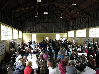 Lake Margaret Power Station - Activities inside the village hall during the Back To Lake Margaret Day in 2007.