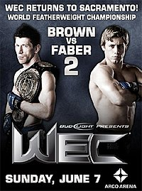 A poster or logo for WEC 41: Brown vs. Faber 2.