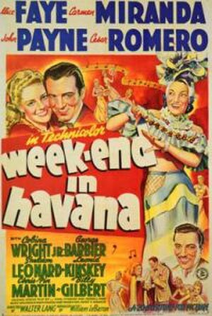 Week-End in Havana - Theatrical Poster