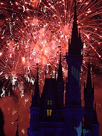 Wishes is the largest fireworks show ever pres...