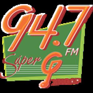 XHGAP-FM - Image: XHGAP 94.7super G logo