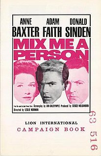 <i>Mix Me a Person</i> 1962 film by Leslie Norman
