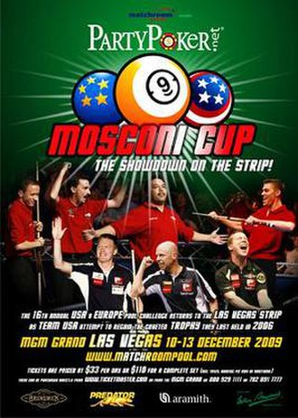 2009 Mosconi Cup - Image: 2009 Mosconi Cup Poster