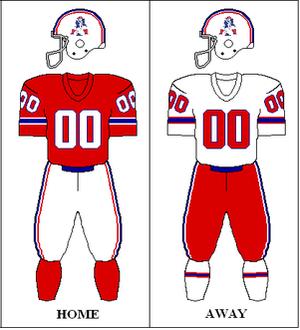 1980 New England Patriots season - Image: AFC 1979 1980 Uniform NE
