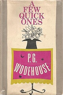 <i>A Few Quick Ones</i> 1959 short story collection by P.G. Wodehouse