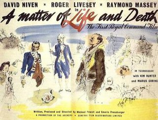 <i>A Matter of Life and Death</i> (film) 1946 film by Emeric Pressburger and Michael Powell